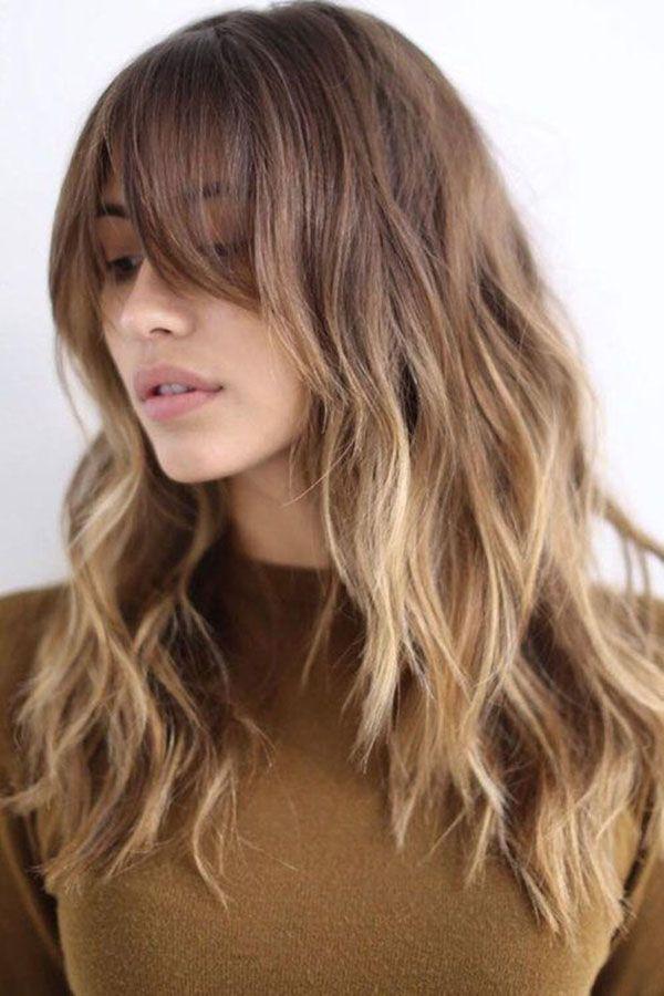 Lange Haarmodelle Haarfarben Ideen Und Trends Fur Die Lange Frisur Winter 2018 2019 Uber Frauen Haarschnitt Gestufte Haare Haarfarben