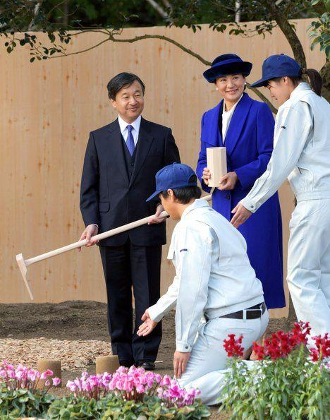 Princess Masako and Naruhito attended Tree Growing Festival