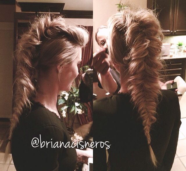 In love with this Mohawk fish tale braid | Glam it ...