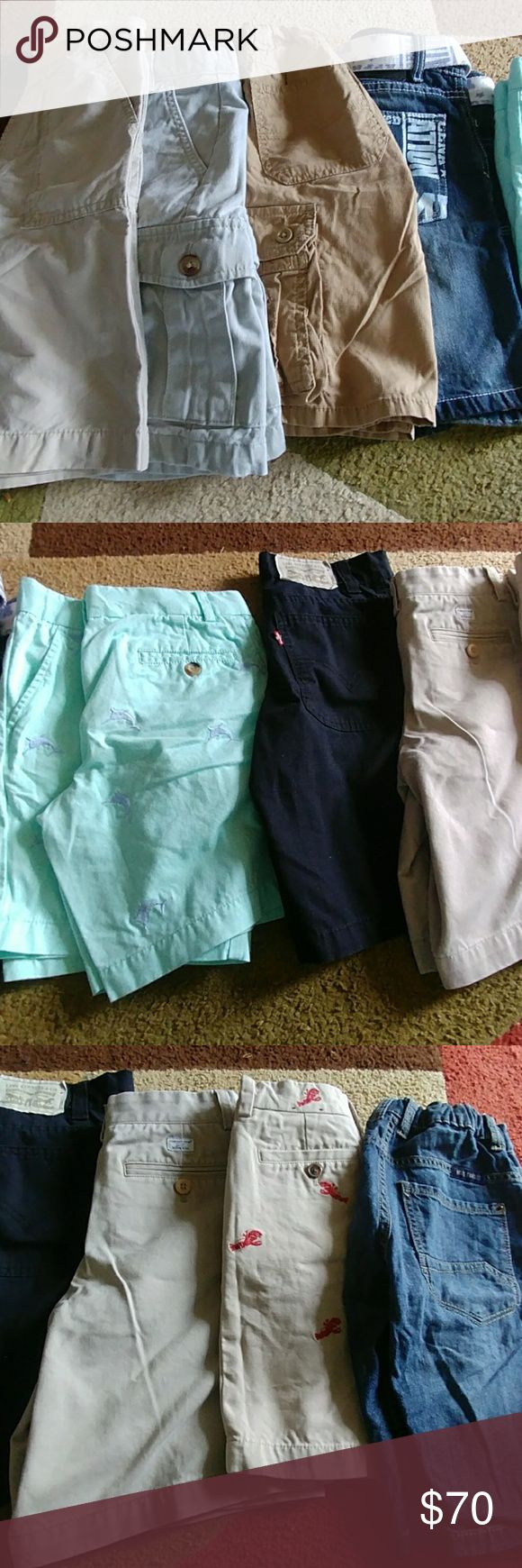 LOT OF 10 BOY'S SHORTS SIZE 7/8 LOT OF 10 BOY'S SHORTS SIZE 7/8.  ALL GENTLY USED OR EUC.  VINEYARD VINES, BROOKS BROTHERS, LEVI'S, J. KHAKI, JOHN CENA, OLD NAVY, FADED GLORY, WRG JEANS CO. see description Bottoms Shorts