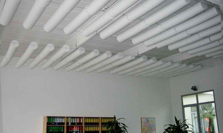 Wie läßt sich die Raumakustik in Büroflächen verbessern - deckengestaltung deckensegel