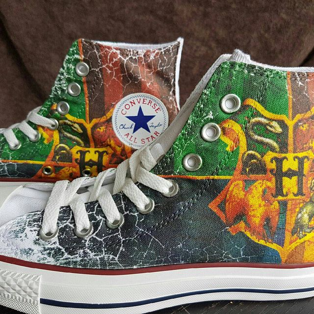 10 Best Custom Harry Potter Converse Shoes Images On Pinterest