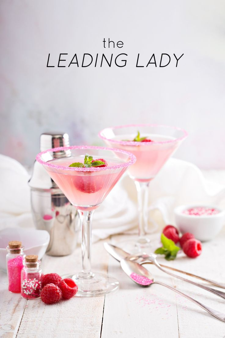Top 5 Oscars Cocktail Ideas: The Leading Lady is a fun raspberry twist on the lemon drop cocktail. Oh so pretty in pink! Get even more Oscars recipes here.