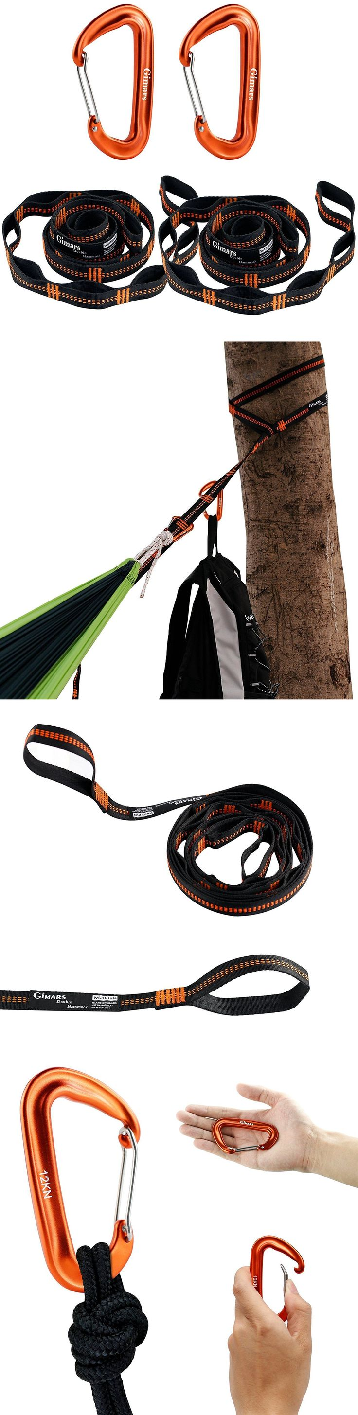 Carabiners and Hardware 50814: Hammock Strap Adjustable Tree Hanging And Carabiners Carrying Bag Heavy Duty -> BUY IT NOW ONLY: $50.99 on eBay!