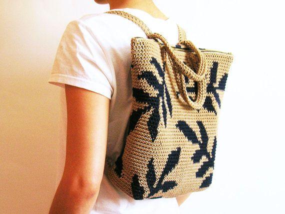 Patrón de gancho para mochila de hojas. Practica por chabepatterns