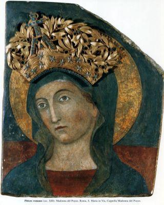 Roma: Madonna del Pozzo - pittore romano XIII sec