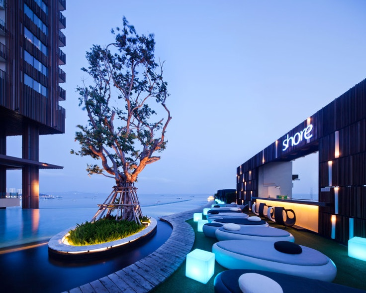Hilton Pattaya Roof Deck by TROPPattaya Landscapes, Roof Decks, Thailand, Gardens, Landscapes Design, Pattaya Hotels, Pools, Ray Bans Sunglasses, Hilton Pattaya