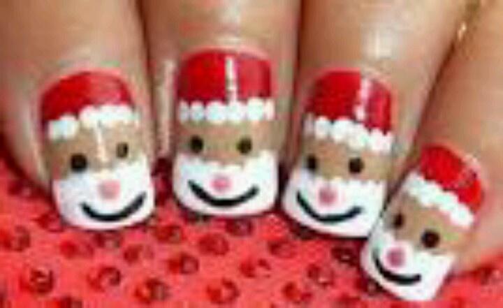 Santa nails