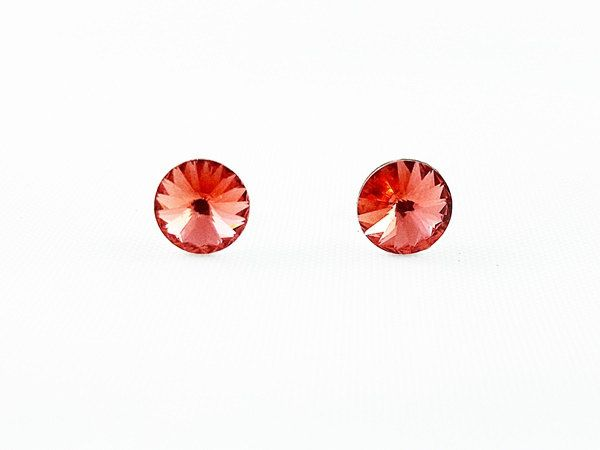 Girl's Earrings, Orange Stud Girl's Earrings, Crystal Earrings, Swarovski Crystals, Gift for Girl, Christmas gift for Girl, fast shipping by modotikon on Etsy