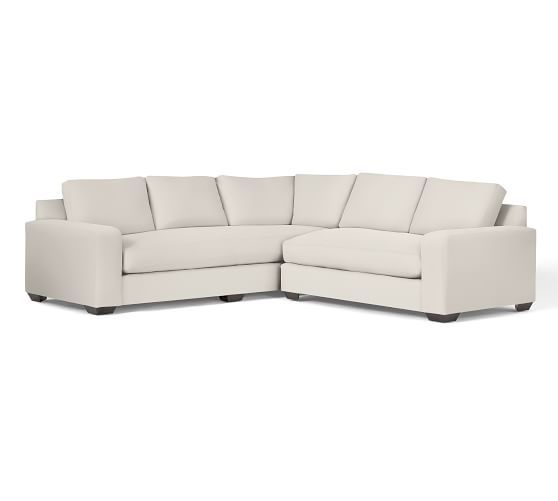 Solano Upholstered 2-Piece L-Shaped Sectional   Pottery Barn