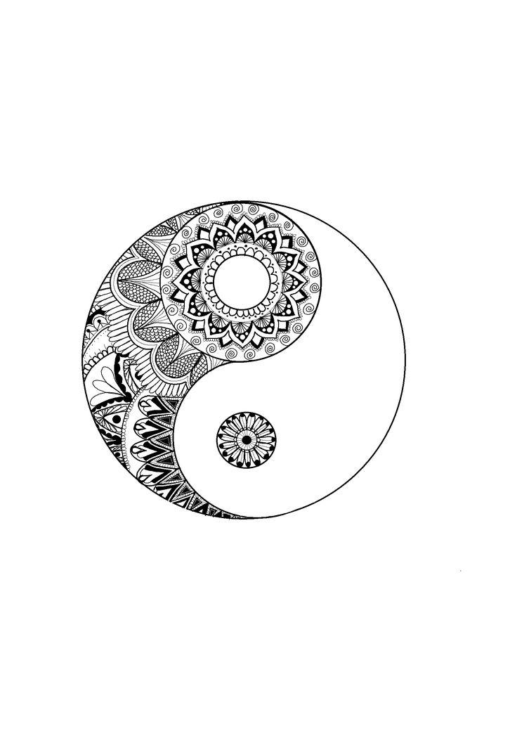 ying-yang/ mandalas/ fondo de pantalla