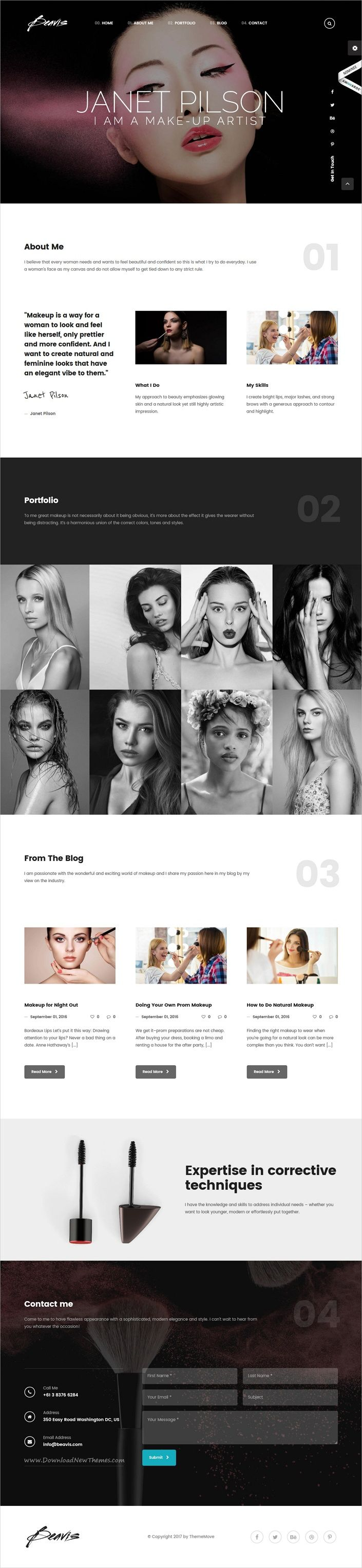 Beavis is an awesome responsive #WordPress theme for creative #makeup #artists #portfolio showcase website with 30+ multipurpose homepage layouts download now➩ https://themeforest.net/item/beavis-enterprise-multipurpose-wordpress-theme/18122295?ref=Datasata