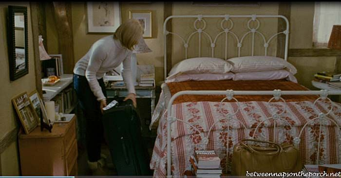 "Sweet mix of furniture, and the iron bed is ""open"" enough to not overpower the small space. The Holiday Movie: Tour Rosehill Cottage"