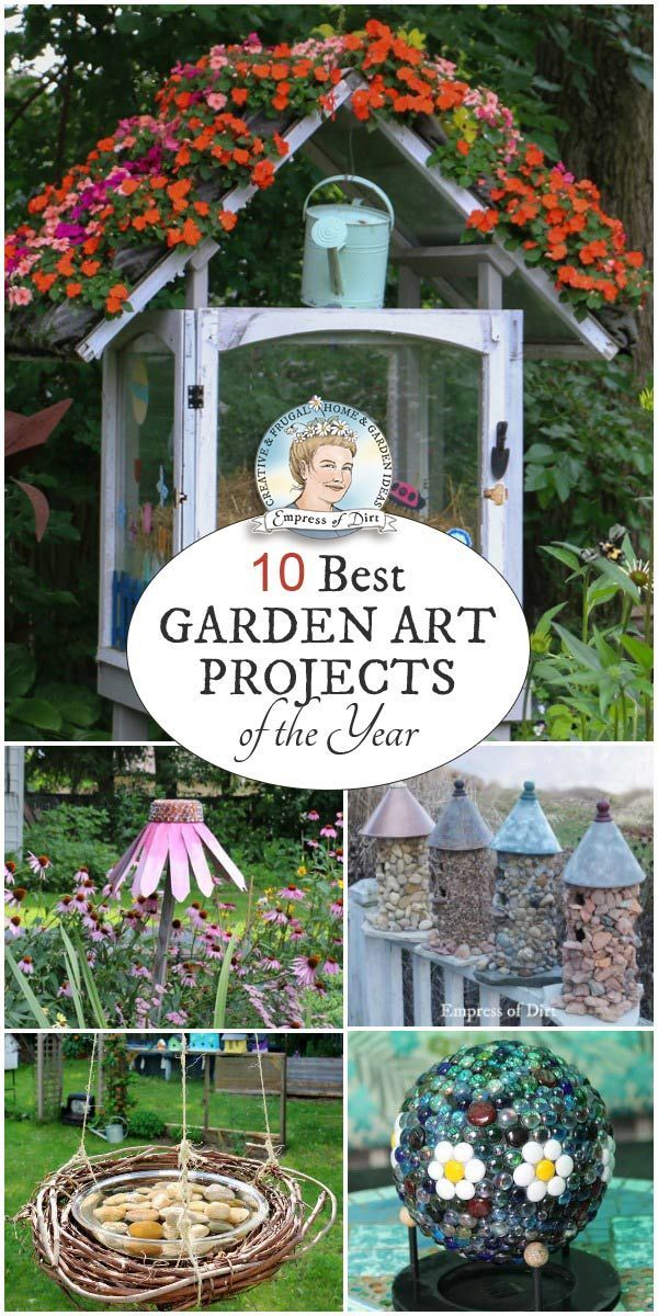 Pinterest Garden Decor Ideas 1630 best garden art junk decor images on pinterest 10 best creative garden projects of the year empress of dirt workwithnaturefo