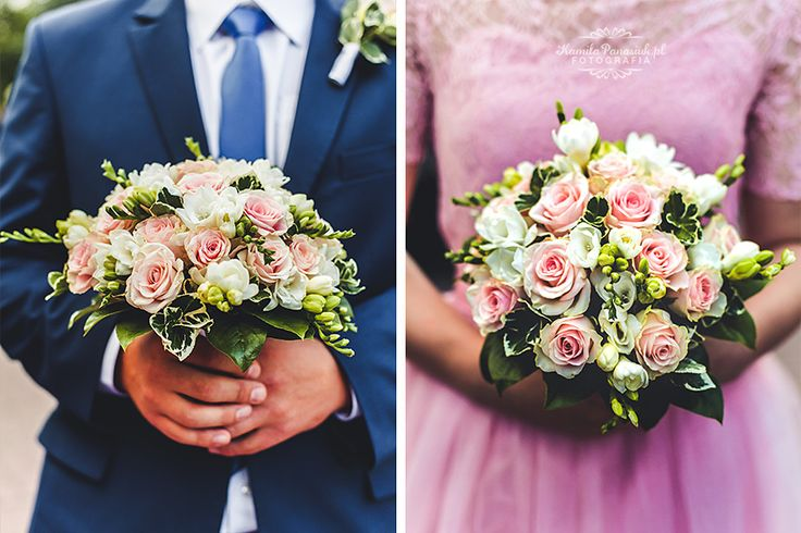Wedding bouquet made from roses / Róże, bukiet ślubny | Kamila Panasiuk Fotografia ślubna