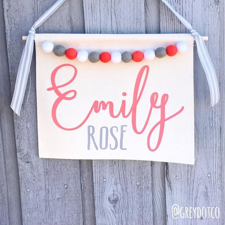 CUSTOM NAME BANNER These fonts...those names.  Rose has been a popular middle name lately. . Canvas: natural Vinyl:…""