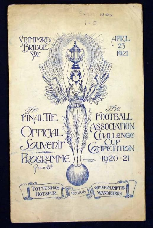 1921 FA Cup Final programme.