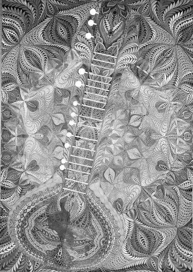 Fotka v albu Sitar* jh, autorská perokresba, Bar. tuš KOH-I-NOOR,karton f.A1,reprofoto:@johanahajkovaPages. cz, r. 2013 - Fotky Google