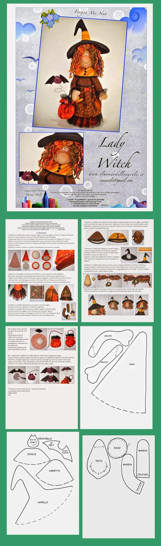 čarodějnice šitá s netopýrem - střih