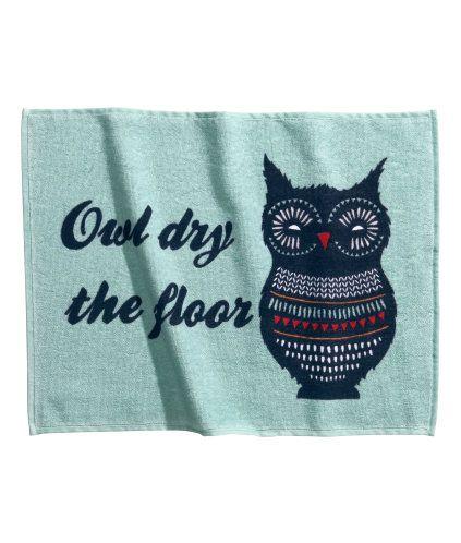 owl bathmat // H&M