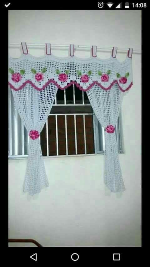 The 93 Best Curtains Of Crochet Images On Pinterest Cortinas