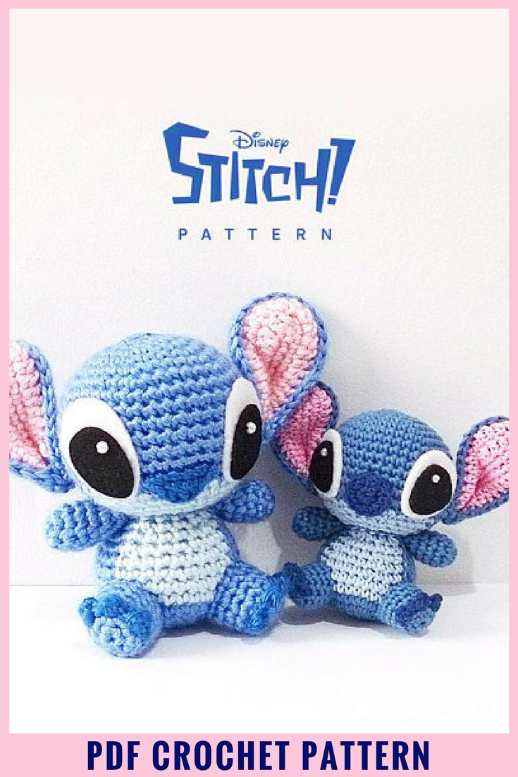 Make your own adorable Stitch from the Disney movie Lilo and Stitch. I absolutely love this amigurumi crochet pattern. #etsy #ad #stitch #amigurumi