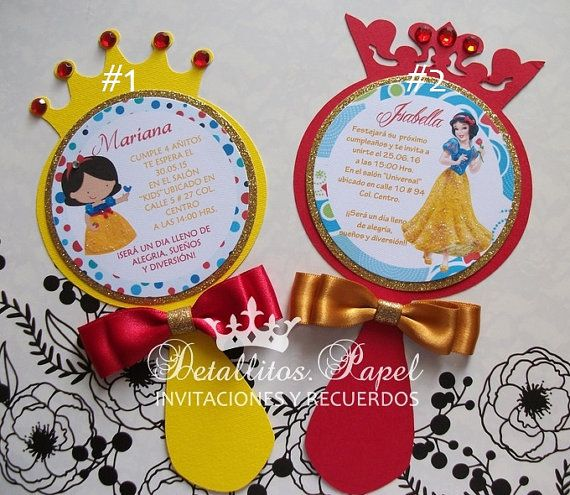 Snow White Invitation Mirror invitation Snow by Detallitospapel