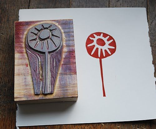 lino stamps    bookhou at home