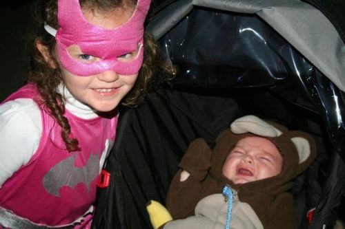 *Name* - Batgirl Stole My Candy a.k.a. Mom just wanted a nice picture