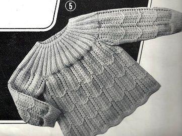 POUR OBTENIR LES EXPLICATIONS CLIQUER SUR LE LIEN SUIVANT: Brassière ajourée Extrait: tricotons sa layette N° 78 de 1968 par La malle ô trésor de Sylvie
