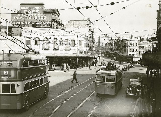 First trip of the Trolley Buses, 1934 Sydney