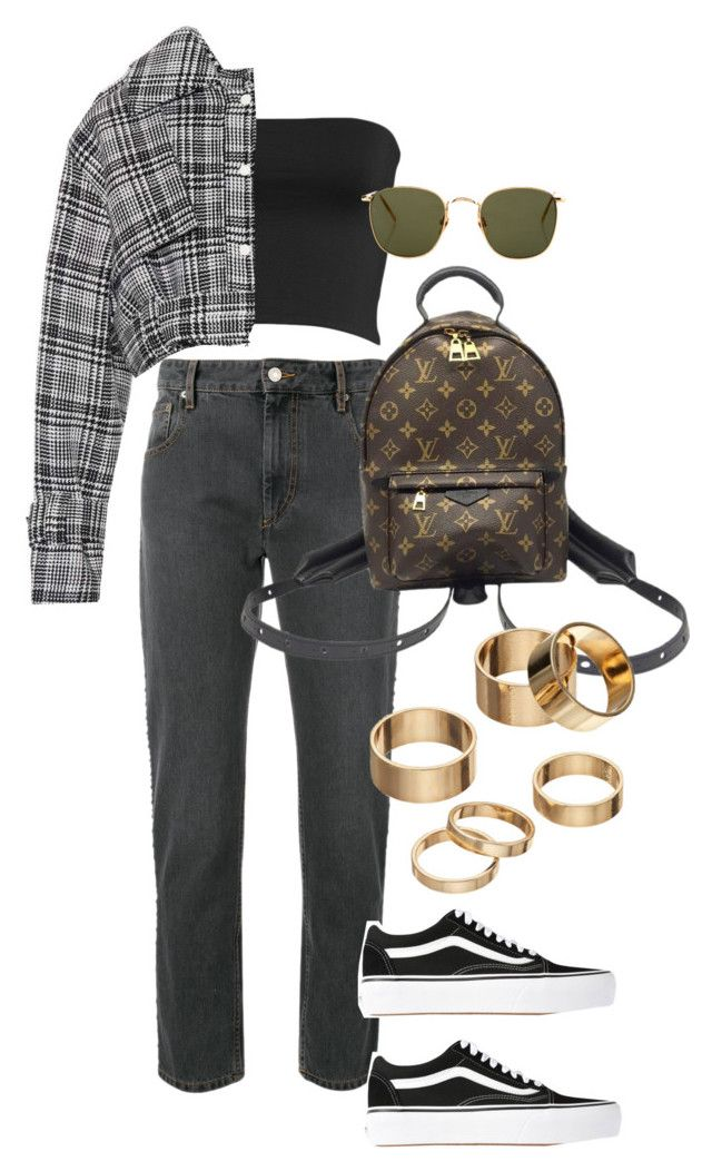 """""""Untitled #4387"""" by lily-tubman ❤ liked on Polyvore featuring Isabel Marant, Leith, Off-White, Vans, Louis Vuitton, Apt. 9 and Linda Farrow"""