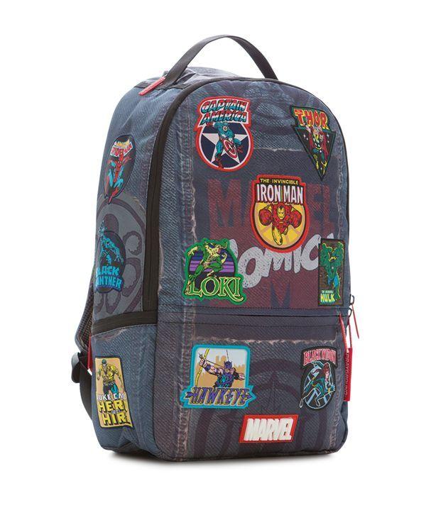 Sprayground Marvel Denim Patches Backpack School Shit