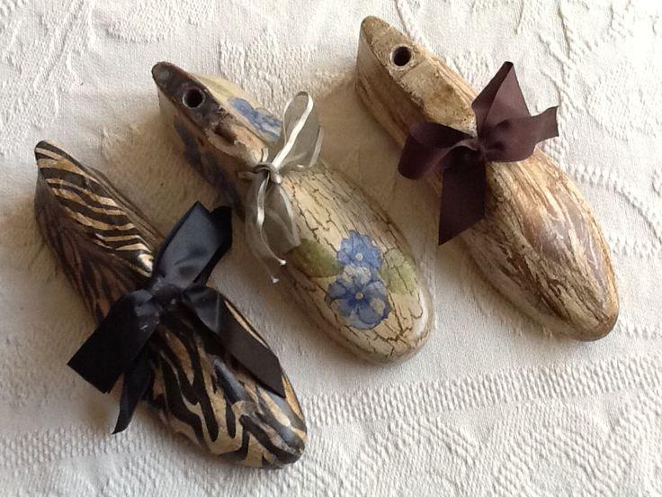 Hormas de zapato con decoupage