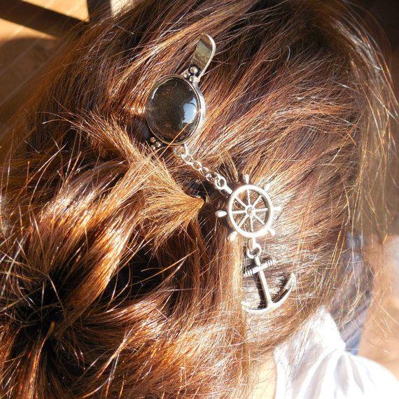 Pic à chignon pic à cheveux en métal accessoire par CO2Bijou