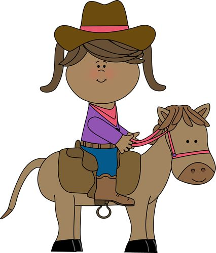Cowgirl riding a horse from MyCuteGraphics | Western Clip ...