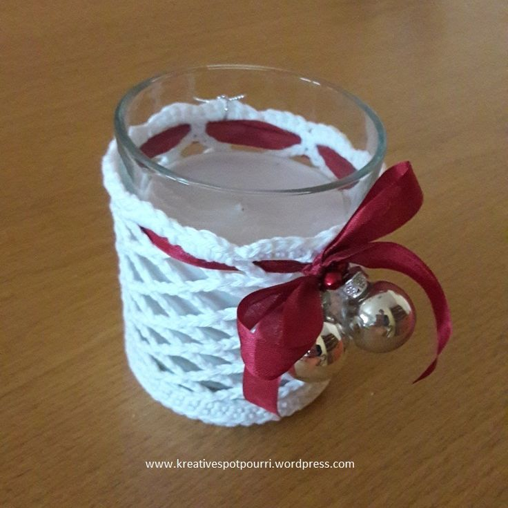 www.kreativespotpourri.wordpress.com - Windlicht - Kerze - gehäkelt - Weihnachten - Mitbringsel