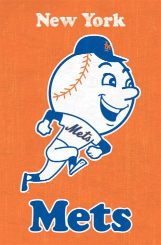 New York Mets Retro Logo Posters from AllPosters.com - $8.99 Great idea for Matt...Christmas, 2014 HAVE TO GET!
