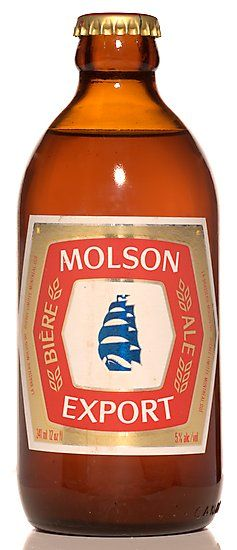 The stubby and Molson Export....