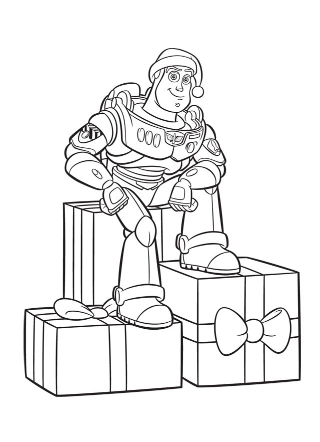 christmas colouring pages 19 - Toy Story Coloring Book
