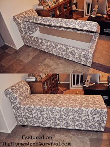 How to build a chaise lounger with hidden storage from for Build chaise lounge