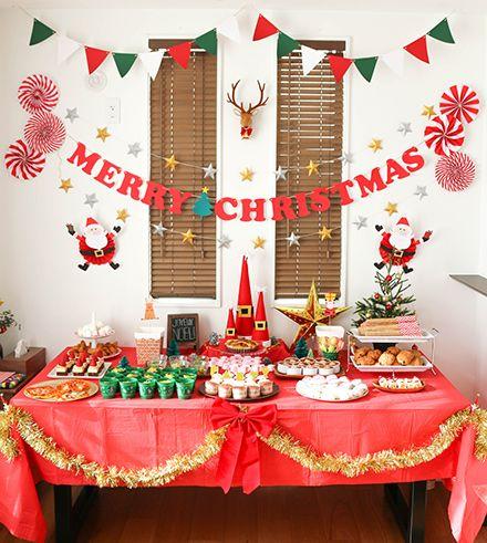 クリスマスパーティー フードコーナー演出 キッズパーティー演出