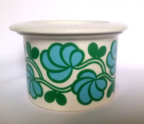 Rare Arabia Finland Pomona jam jar mid century modern made in the 60s. Fantastic pattern