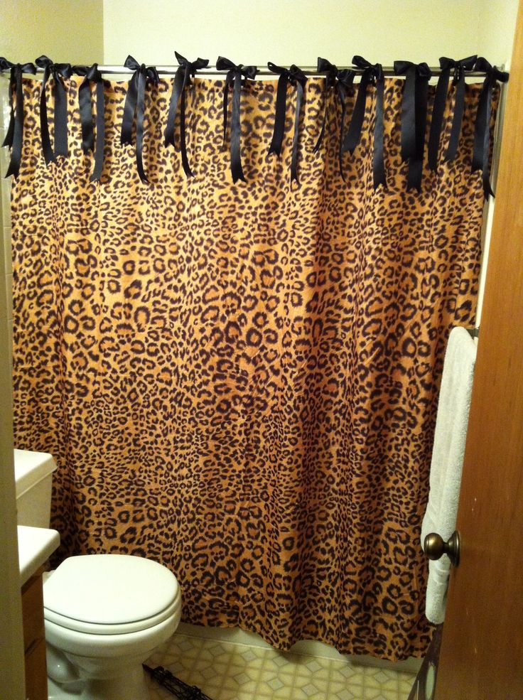 Black Wedding Silk Ribbons From Hobby Lobby, Black Plastic Rings And Cheetah  Curtain From Walmart. Black WeddingsLeopard Bathroom DecorCheetah Print ...