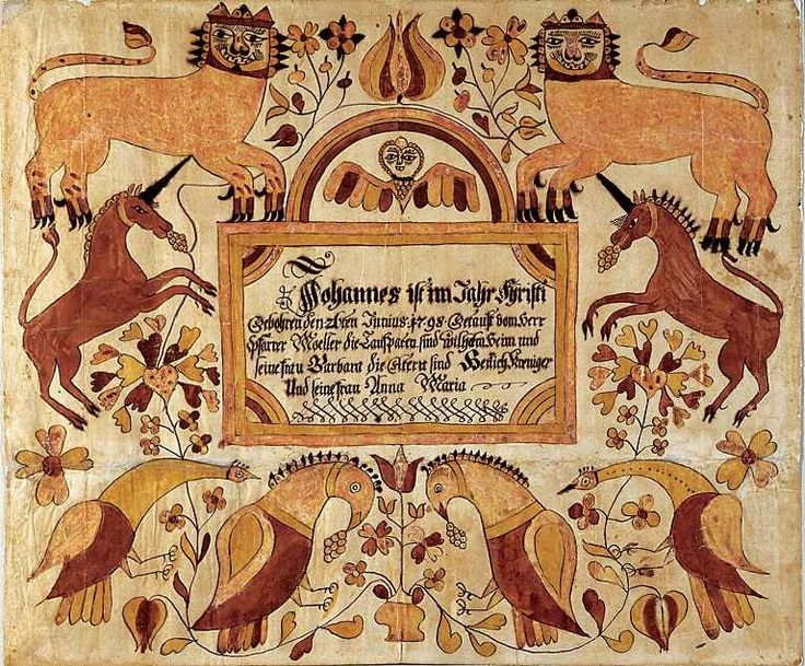 68 best Fraktur images on Pinterest Wood paintings, Patterns and - best of good standing certificate pa