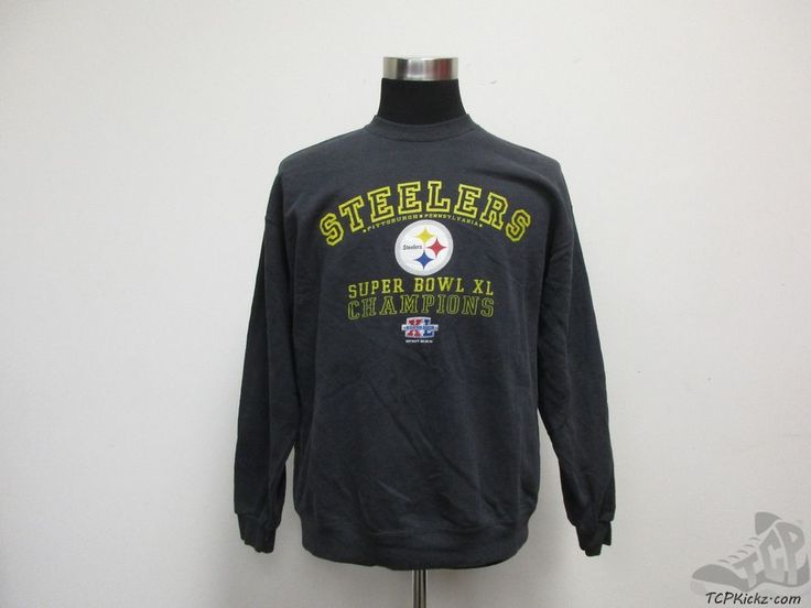 Lee Sport Pittsburgh Steelers Crewneck Sweatshirt sz L Large Super Bowl XL 40 #LeeSport #PittsburghSteelers #tcpkickz