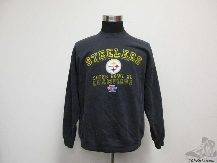 Lee Sport Pittsburgh Steelers Crewneck Sweatshirt sz L Large Super Bowl XL 40 #LeeSport #PittsburghSteelers #tcpkickz