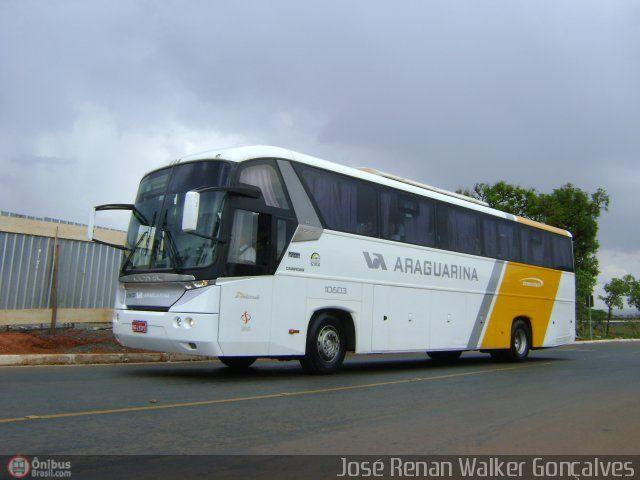 Ônibus da empresa Viação Araguarina, carro 10603, carroceria Comil Campione 3.65L, chassi Scania K340. Foto na cidade de Brasília-DF por José Renan Walker Gonçalves, publicada em 21/10/2010 23:56:16.