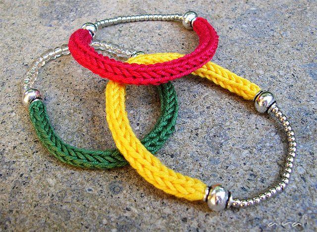 braccialetti bracelets tricotin by airali_gray, via Flickr