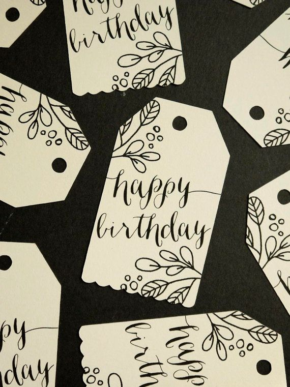 Kraft or Cream Handdrawn Floral Thank You Card by MintedStrawberry